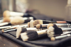 Free Set Of Brushes (make Up Application Tools) Laying On A Table Ran Stock Photo - 66236720