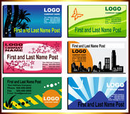 Set Of Business Cards Royalty Free Stock Photos