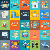 Set Of Business Concepts On Banners Royalty Free Stock Image