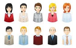 Free Set Of Businessmen And Businesswomen Avatars Stock Image - 102642491