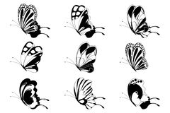 Set Of Butterfly Royalty Free Stock Photo