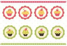 Free Set Of Cake Stickers Stock Photos - 31923083