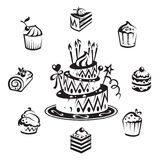 Set Of Cakes Stock Image