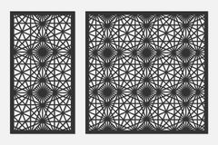 Free Set Of Cards To Cut. Vector Panels For Laser Cutting. The Ratio 1:1, 1:2. Royalty Free Stock Photos - 104246478