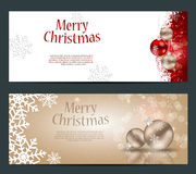 Set Of Cards With Christmas BALLS, Stars And Royalty Free Stock Photo