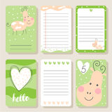 Set Of Cards With Happy Cow . Royalty Free Stock Image