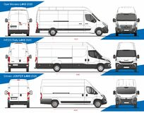 Free Set Of Cargo Delivery Vans L4H3 2020 Royalty Free Stock Image - 214769126