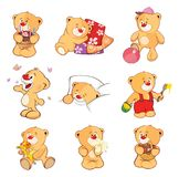 Set Of Cartoon Illustration Stuffed Bears For You Design Royalty Free Stock Image