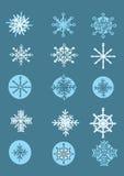 Set Of Cartoon Snowflakes Royalty Free Stock Photo