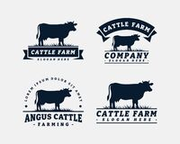 Free Set Of Cattle Farm Logo Template Design Stock Image - 220667471