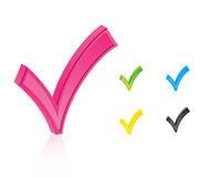 Set Of Check Marks Stock Photography