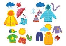 Free Set Of Children`s Season Clothes Stock Photo - 167479000