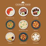 Set Of Chinese Food Royalty Free Stock Photography