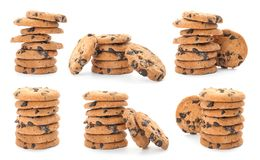 Free Set Of Chocolate Chip Cookies Stock Photo - 133374550