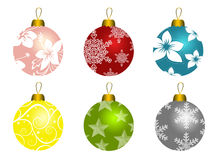 Set Of Christmas Balls Royalty Free Stock Photo