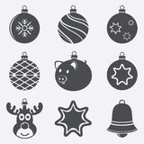 Set Of Christmas Balls Icons Stock Image