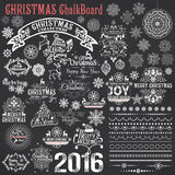 Set Of Christmas Calligraphic Design Elements Stock Images
