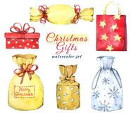 Free Set Of Christmas Colorful Gift Boxes. Stock Photos - 165638263