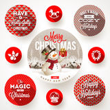 Set Of Christmas Designs Royalty Free Stock Image