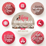 Set Of Christmas Designs Stock Image