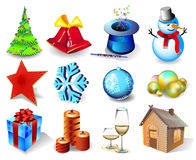 Free Set Of Christmas Icons Royalty Free Stock Photos - 7401218