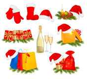 Set Of Christmas Icons. Vector . Stock Photos