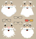 Set Of Christmas Masks. Santa Claus, Glasses, Hips Stock Images