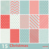 Set Of Christmas Patterns And Seamless Background Royalty Free Stock Photos