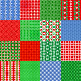 Set Of Christmas Seamless Patterns. Vintage Tile, Vector Royalty Free Stock Images