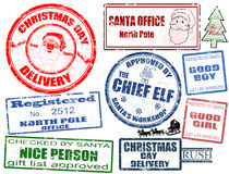 Free Set Of Christmas Stamps Stock Photography - 21715652
