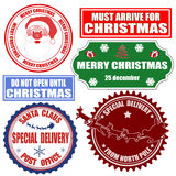 Set Of Christmas Stamps And Labels Stock Image