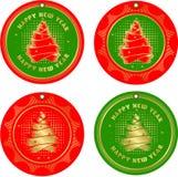 Set Of Christmas Tags Royalty Free Stock Photos