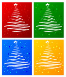 Set Of Christmas Tree Royalty Free Stock Images