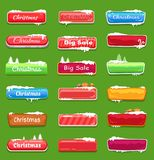 Set Of Chrtistmas Buttons Vector Illustration Stock Photo
