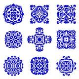 Set Of Classic Ornamental Tile Design Azulejo Boho Vintage Design Elements Royalty Free Stock Photo