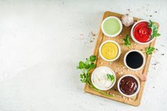 Free Set Of Classic Sauces Stock Photography - 136256742