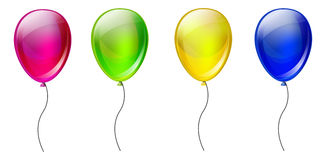 Set Of Color Balloons Stock Image