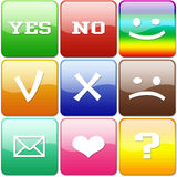Set Of Color Buttons Stock Photography