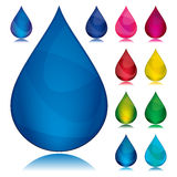 Set Of Color Drop Royalty Free Stock Photos
