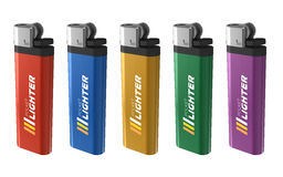 Set Of Color Lighters Royalty Free Stock Photo