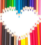 Set Of Color Pencils Royalty Free Stock Images