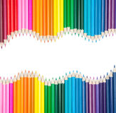 Set Of Color Pencils With Copyspace Stock Image