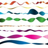 Set Of Color Ribbons Stock Images