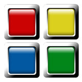Set Of Color Web Buttons Stock Photography