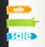 Set Of Colored Sale Tags. Royalty Free Stock Photos
