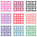 Set Of Colored Seamless Patterns Stock Photo