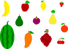 Free Set Of Colorful Cartoon Fruit Icons Royalty Free Stock Photography - 69962577