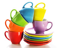 Free Set Of Colorful Cups Stock Image - 9644951