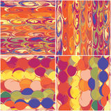 Set Of Colorful Seamless Patterns Stock Photography