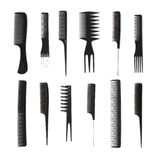 Set Of Combs, Hairstyle Accessories Stock Image
